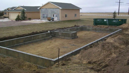 House foundation layout